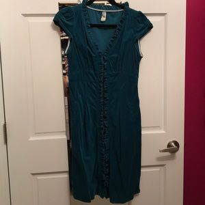 Turquoise Corduroy dress